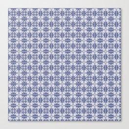 Denim Blue Decorative Tile Canvas Print