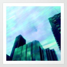 clouds in los angeles 2 Art Print