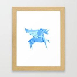 Origami Pegasus Framed Art Print