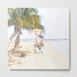 Olaf in the beach Metal Print