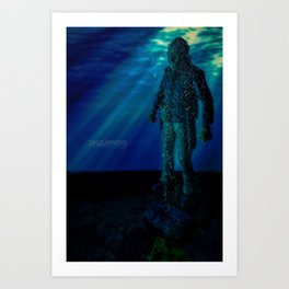 Only way to kill Jason is to send him back to his original resting place where he drowned in 1957... Art Print