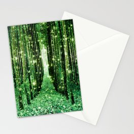 Magical Forest Green Elegance Stationery Cards