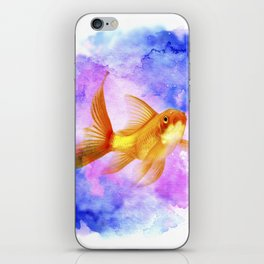 Watercolor Goldfish iPhone Skin