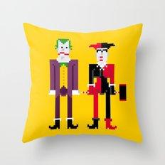 Joker and Harley Quinn Throw Pillow
