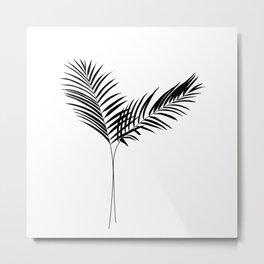 Palm silhouette illustration - Nikita Metal Print