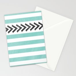 ARROW STRIPE {TEAL} Stationery Cards