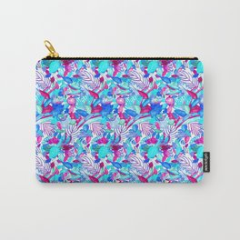 Blue Purple jungle Carry-All Pouch