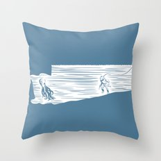 Deep Seasaw Diver Throw Pillow