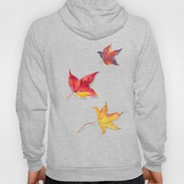 Autumn leaves pattern (white background) Hoody