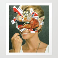 the disaster in her face 4 Art Print