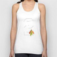 blackhawks Tank Tops featuring Duncan Teeth by fohkat