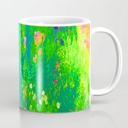 Cozy Garden Flowers Gone Wild Color Slapped Coffee Mug