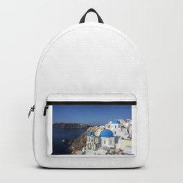 Santorini, Oia Village, Greece Backpack