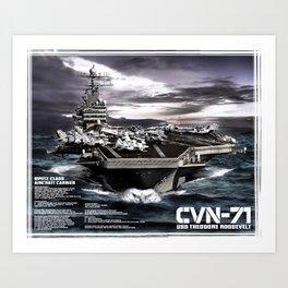 Aircraft carrier Theodore Roosevelt Art Print