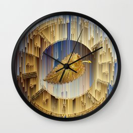 Golden Leaf in the endless dial Wall Clock