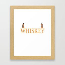 Whiskey Bourbon Helps Alcohol T-Shirt Gift Fathersday new Cat Catlover Kitty Framed Art Print