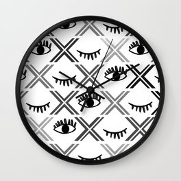 Original Black and White Eyes Design Wall Clock