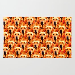 Cool Dog Art Doggie Golden Retriever Abstract Rug