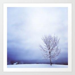 Silver Tree Art Print