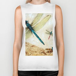 Zen Flight - Dragonfly Art By Sharon Cummings Biker Tank
