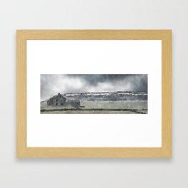 Deserted Barn at Crow Edge Framed Art Print