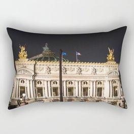Paris, Opéra Garnier night Rectangular Pillow