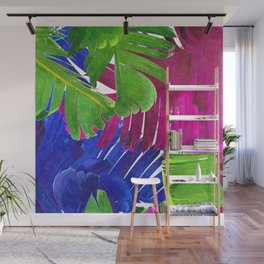 Colorful tropical leaves Wall Mural