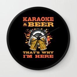 Cool Karaoke Bar Music Lover Singer Instrument Wall Clock