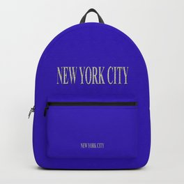 New York City (type in type on blue) Backpack