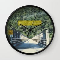 never stop exploring Wall Clocks featuring Never Stop Exploring by Louise