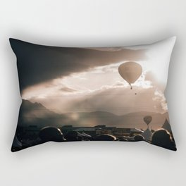 Albuquerque Balloon Fiesta Sunrise Rectangular Pillow