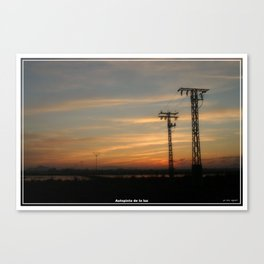 Autopista de la luz. Canvas Print