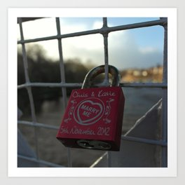 Love Locked Art Print