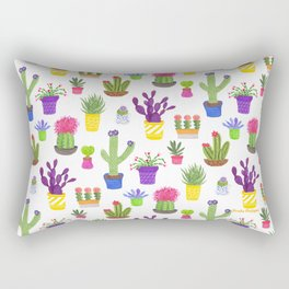 The Potted Cactus Rectangular Pillow