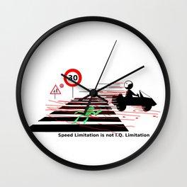 Road safety IQ speed limitation Wall Clock