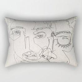 Blind Contour Rectangular Pillow