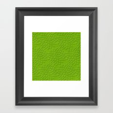 Leather Look Petal Pattern - Greenery Color Framed Art Print