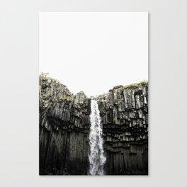 Svartifoss Waterfall Iceland Canvas Print