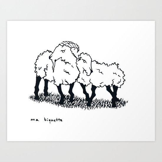 Ma Biquette Art Print