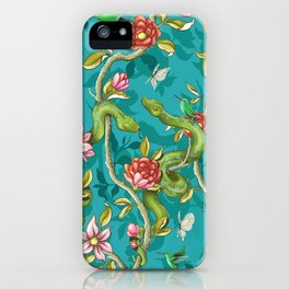 Morning Song - turquoise iPhone Case