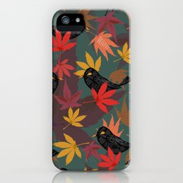 Autumn Blackbirds iPhone Case