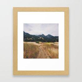 Golden Malibu Framed Art Print