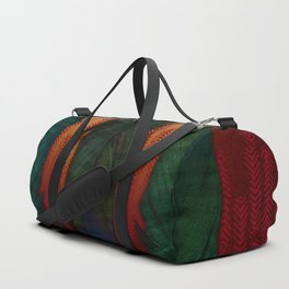 Feathers at campfire Duffle Bag