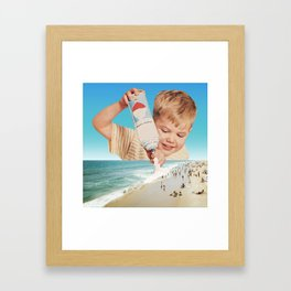 It's the same boy who puts snow on mountaintops Framed Art Print