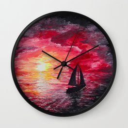 Sail Into the Sunset Wall Clock