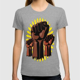 Black Power Raised Fists T-shirt