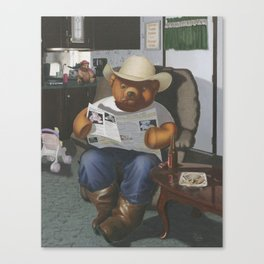 Redneck Teddy Canvas Print