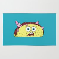 taco Area & Throw Rugs featuring Taco Bob by Gimmickey Pop