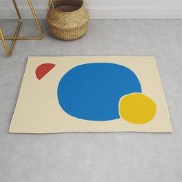 Circle abstract minimal Rug