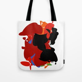 Red Black Forest Colorful Abstraction Digital Art - RegiaArt Tote Bag